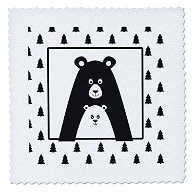 3drose Uta Naumann水彩イラスト動物 – キュートScandinavian Wild Animal illustration-family Bear in Forest –...