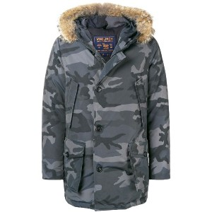 Woolrich camouflage parka - グレー