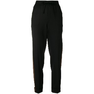 P.A.R.O.S.H. side stripe tapered trousers - ブラック