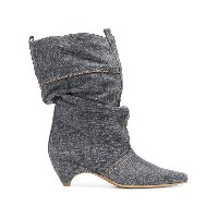 Stella McCartney Slouchy pointed boots - グレー