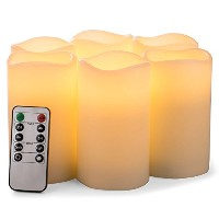 Flameless Candles電池式ピラーRealワックスちらつきElectric LEDキャンドルギフトセットwithリモートコントロールサイクリング24時間タイマーby Aku Tonpa...