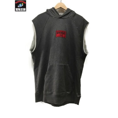 GIVENCHY ノースリーブ パーカー GRY SIZE M【中古】
