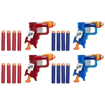 ナーフ エヌストライク アメリカ 直輸入 エリート - NERF N-Strike Elite Sonic Fire and Ice Jolt Team Pack of Four Blastersナー...