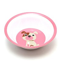 ■ OMM DESIGN MELAMINE BOWL DOG WITH PINK (OMM デザイン メラミン ボウル ドッグ ウィズ ピンク) 【AS】