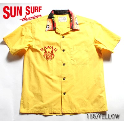 "SUN SURF DINER SHIRTサンサーフ アロハシャツCOTTON S/S OPEN COLLAR DINER SHIRT""HAWAIIAN CREST""Style No.SS37891"