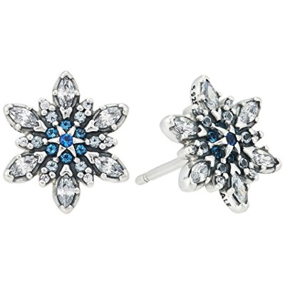 [女性向けイヤリング]Pandora 290590NBLMX Crystallised Snowflake Stud Earrings[平行輸入品]