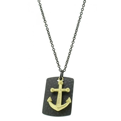 [男性用ネックレス]Hafen-Klunker Men Stainless Steel Pendant Necklace - 107990[平行輸入品]