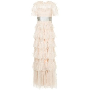 Needle & Thread scallop tulle gown - ピンク
