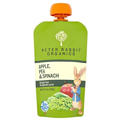 Peter Rabbit Organics, Pea, Spinach and Apple Puree, 4.4-Ounce Pouches (Pack of 10) by Peter Rabbit...