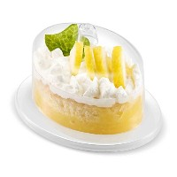 (Oval Dish) - MINI WONDERS Appetiser Dish with Cover 24 Pack Oval Clear Plastic Disposable For...