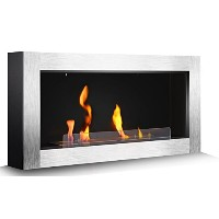 """43"""" Ventlessバイオエタノール暖炉ヒーター、壁マウント& Built In Wall Recessed暖炉by r.w. Flame"""