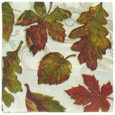 Colors of the Wind感謝祭Fall Leaves 16 ct Beverage Napkins