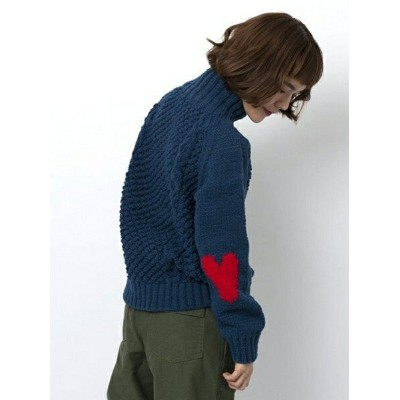 【SALE/30%OFF】MILKFED. HEART ELBOW HIGH NECK KNIT ミルクフェド ニット【RBA_S】【RBA_E】【送料無料】