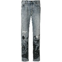 Diesel Black Gold printed denim jeans - ブルー