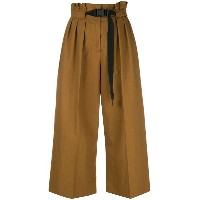 Kenzo cropped high waisted trousers - ブラウン