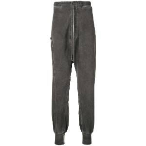 Lost & Found Rooms zip detail drop-crotch trousers - グレー