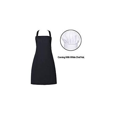 (Color 02) - Professional Commercial Kitchen Chef Cooking Bib Apron, Durable, Comfortable, Easy...