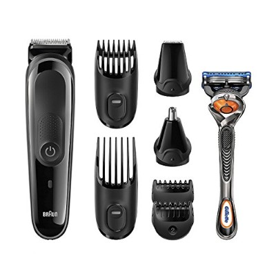 Braun Multi Grooming Kit MGK3060 8-in-1 Beard / Hair Trimmer for Men, Precision Face and Head...