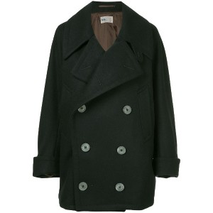 Kolor double breasted coat - ブルー