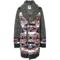 COOHEM Native contrast cardi-coat - グレー