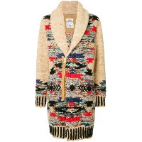 COOHEM Native knitted coat - ブラウン