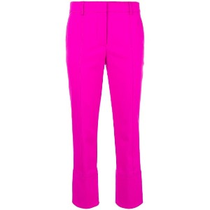 Emilio Pucci tailored cropped trousers - ピンク&パープル