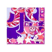 Emilio Pucci abstract print scarf - ピンク&パープル