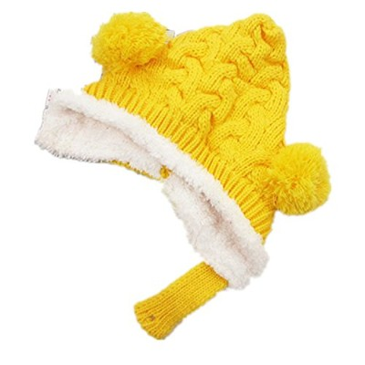 BuyHereキュートunisex-babyニットキャップKeeping Warm in Winter イエロー BuyHere