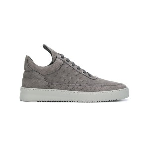 Filling Pieces perforated platform sole sneakers - グレー