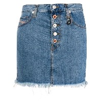 Diesel fringed denim skirt - ブルー