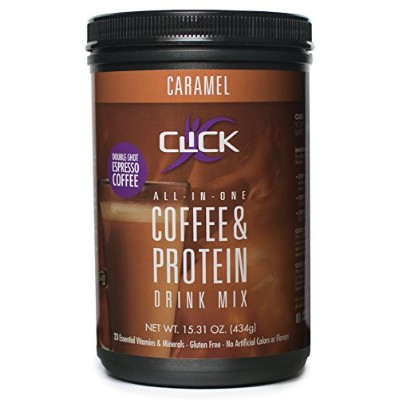 CLICK Coffee Protein Espresso Drink, Caramel, 15.31 Ounce by CLICK