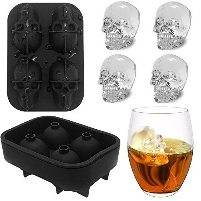 Skull Ice Cube Tray KIDAC BPA-free Slicone Ice Cube Mould Maker Candy Chocolate Mould - Diswasher...