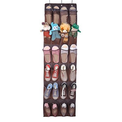 vankcp Shoe Organizer with 24 Largeポケット、over-the-door Heavy DutyドアシューズハンガーNarrow用ドアGreat for靴...