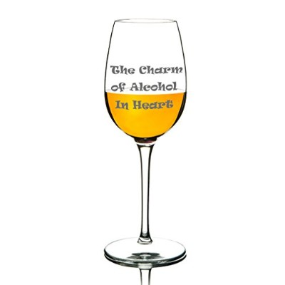 Michley TritanプラスチックWine Glasses Funny Word Unbreakable Glassware、結婚式、パーティー、BPAフリー、食器洗い機12.5 Oz 1...