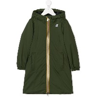 K Way Kids long parka coat - グリーン