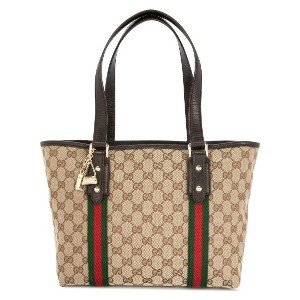 GUCCI PRE-OWNED Shelly GG トートバッグ - ブラウン