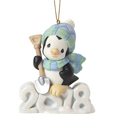 Precious Moments Wishing You a Cool Yule Dated 2018 Animal Ornament