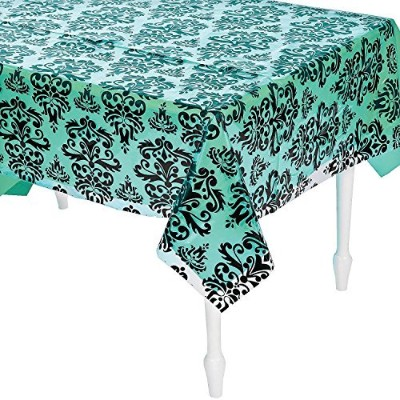 100' X 40 Plastic Clear Damask Tablecloth Roll - Party Tableware & Table Covers (a) [並行輸入品]