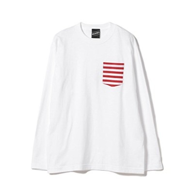 (ビームスティー) BEAMS T BEAMS T/Border Pocket Long Sleeve Tee 11140874823 ONE SIZE ホワイト