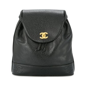 Chanel Vintage CC logo backpack - ブラック