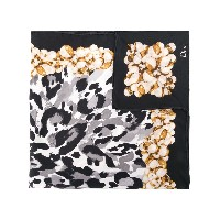 Christian Dior Vintage abstract print foulard - ブラック