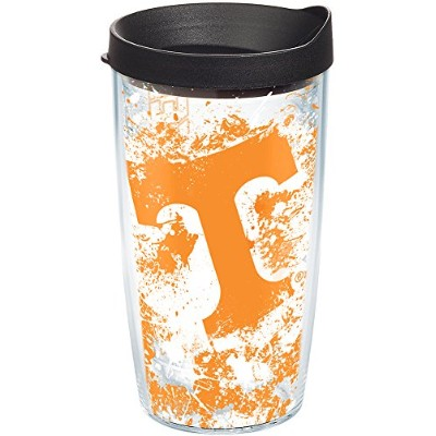 Tervis Tennessee University Knoxville Splatter Wrap Tumbler with Black Lid, 470ml, Clear