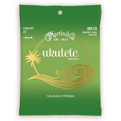 Martin マーティン Graphite Gray Polygut Ukulele Strings M625 Tenor テナー用ウクレレ弦
