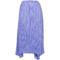 Issey Miyake Vintage tie-up pleated skirt - ピンク&パープル