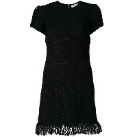 Sonia Rykiel fringed hem dress - ブラック