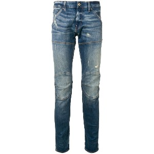 G-Star Raw Research aged antic destroy skinny jeans - ブルー