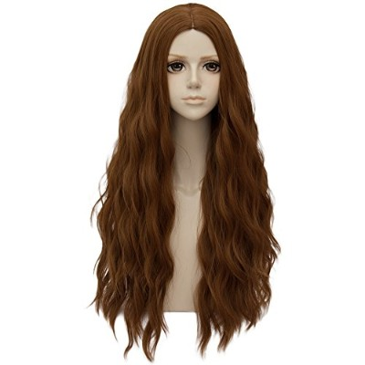 (Brown) - Brown Long 80cm Curly Heat Resistant Cosplay Wig Fashion Lolita Women's Party