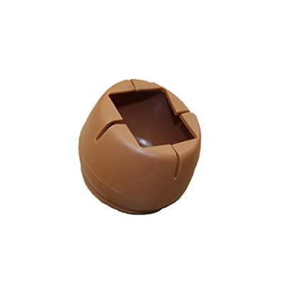 Flyshop 8 Pieces Round Chair Leg Caps PVC Floor Protector Furniture Table Feet Covers #7 (Brown, 1...
