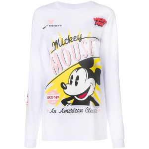 Gcds Mickey Mouse printed sweatshirt - ホワイト
