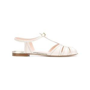 Fendi micro perforated sandals - ホワイト